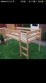 Child Platform Bed - THUKA Hit Midsleeper Cabin bed - Solid Pine