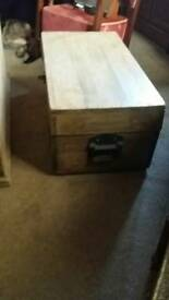 wooden chest /table/storage.