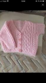 Baby girl knitted cardigan size 0-3 Month