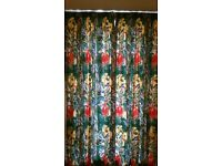 Pair of floor length lined curtains
