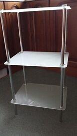 Chrome & Glass 3 Tier Bathroom Stand
