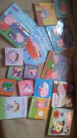 Peppa pig books + jigsaw + card games