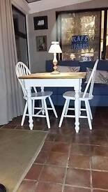 Shabby Chic Table & 2 Farmhouse Chairs