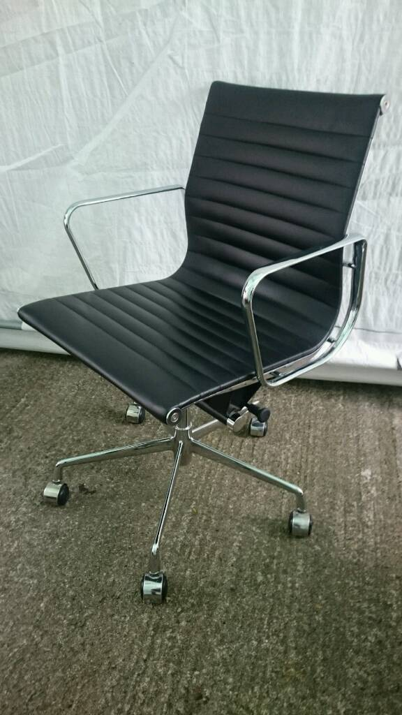 5 available Cool leather and chrome office/computer chair