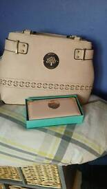 Mulberry suede handbag and purse for sale