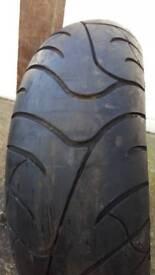 180 55 17 bike tyre bridgestone bt020r used