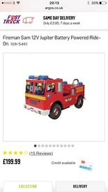 Brand New in Box ** Ride on 12v fire engine
