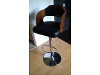 2 x leather breakfast bar stool chair