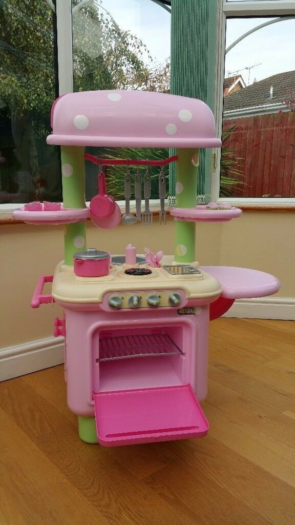 Childrens Pink Toy Play Kitchen