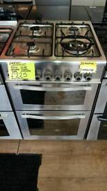 PRESTIGE 60CM GAS DOUBLE OVEN COOKER IN SILVER