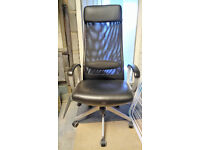 Black high back computer chair - Offers considered