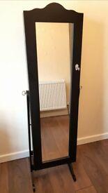 Jewellery Cabinet Mirror Floor Standing Storage Box Organiser