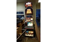 Rocky Fruit Machine - Slot Machine - Club Size perfect for man cave/ home bar. Barcrest