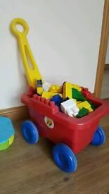 Mega blocks with wagon