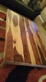 """Lovely quality large solid wood coffee table. 64"""" x 45"""" x 16"""" Can deliver if local."""