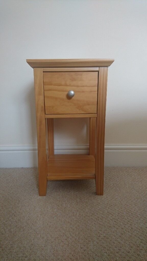 Marks And Spencer Solid Pine Wood Compact Bedside Tables Set Of 2 100 Ono