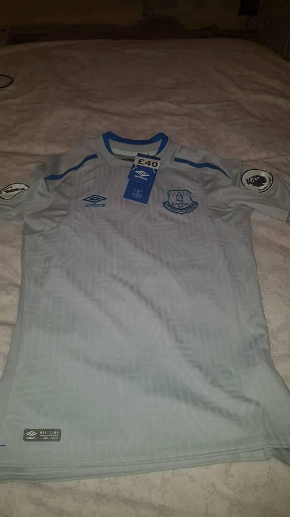 Large boys Everton away shirt