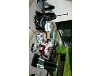 Carboot joblot incl travel iron x kettle ed hardy lmtd edition case vintage toy ewbank boxed