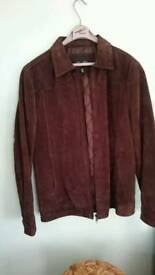 "Mens brown suede leather jacket 40"" chest"