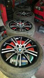 "Original BMW 18"" custom sprayed alloys, more in stock, refurbishment available"
