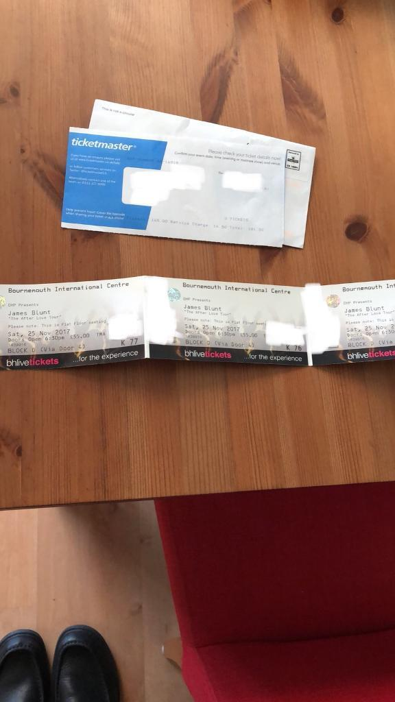 1 James Blunt The AfterLove Tour Bournemouth Tickets