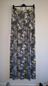 grey with yellow flower design summer dress