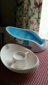 Angel care bath support x top a tail bowl both for £4