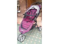 Baby jogger city mini 2013 purple stroller pushchair
