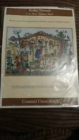 New Counted Cross Stitch- Garden shed by Bothy Threads