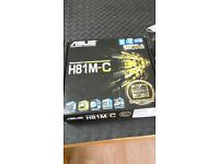Intel core i7-4790k processor (8m cache, up to 4.40ghz) and H81m-c motherboard asus