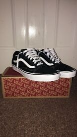 Brand new size 11 original black and white vans with box for sale!