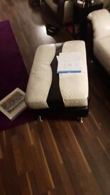 2 x 2 seater leather sofa black and white