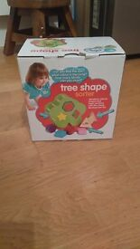 Wooden shape sorter with original box