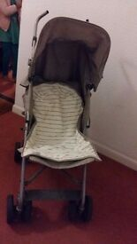 Buggy available with winter foot muff & plastic rain cover