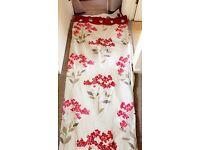 Next red Curtains matching pillows an red rug !!!!