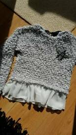 Grey beautiful sweater size 8-10 years