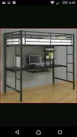 High sleeper with desk storage
