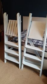 Eggshell Blue Hand-Painted Step Ladders