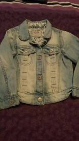 Girls denim jacket age 2-3 years for sale