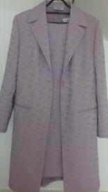 ladies lavender jacket and dress suit