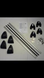 Aluminium lockable roof bars to fit focus c-max 03-07 models