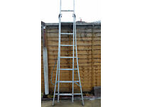 Aliminium Combination Ladders x 1 set, Good Condition.