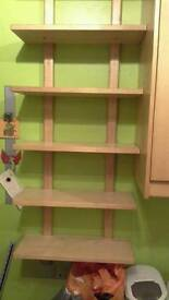 Ikea wooden shelving