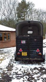 Rice double horse trailer