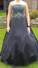 Black full skirt prom dress size 12