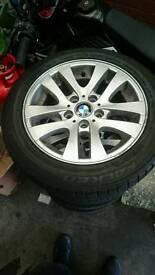 Bargain genuine Bmw 2008 E90 Alloys with very good tyres 5x120
