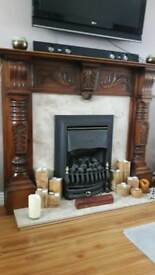 Magnificent hand carved fireplace REDUCED