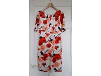 FEVER brand, Abstract poppy print dress, size 12