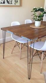 Rustic table handmade with reclaimed Wood