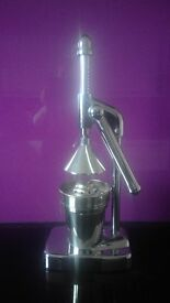 Lever Operated Juicer [for Citrus Fruits] in Polished Chrome with a Retro Vibe, by Habitat